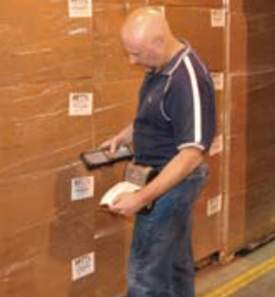 mobile printing warehouse worker