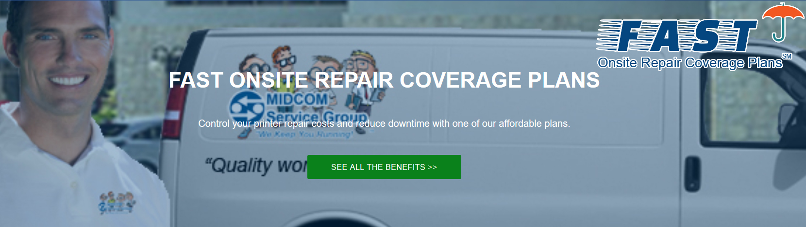 fast onsite repair coverage plan ad banner