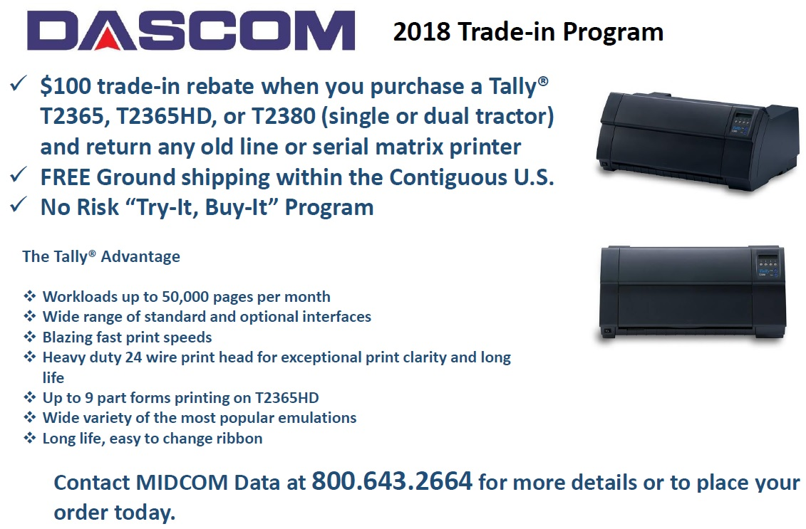 2018 dascom standard trade-in program
