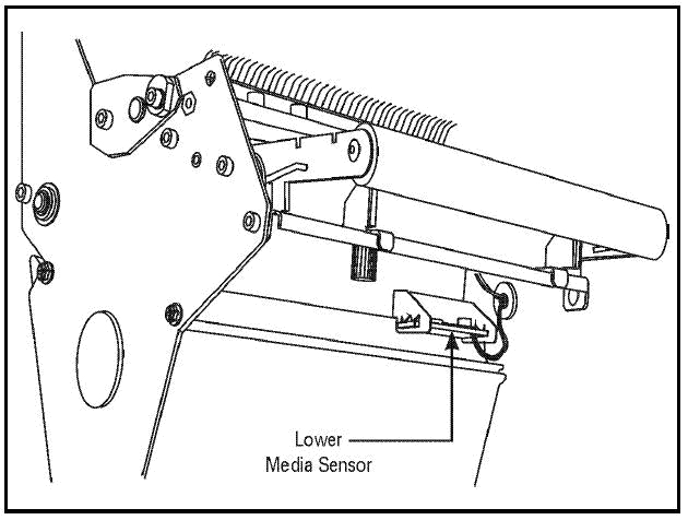 zebra lower media sensor
