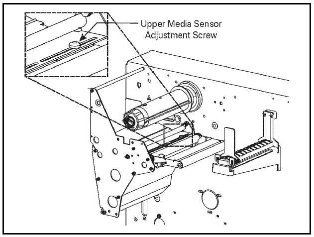 zebra upper media sensor