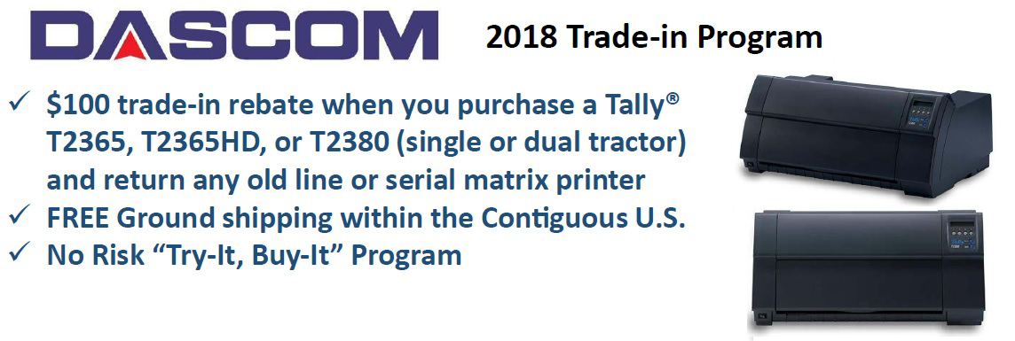 2018 dascom trade-in program