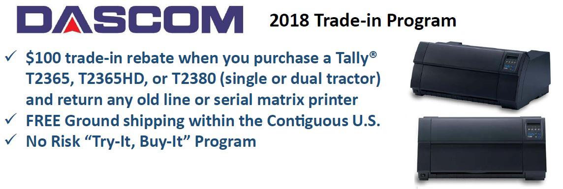 2018 dascom trade-in program