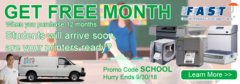 printer service contract free month