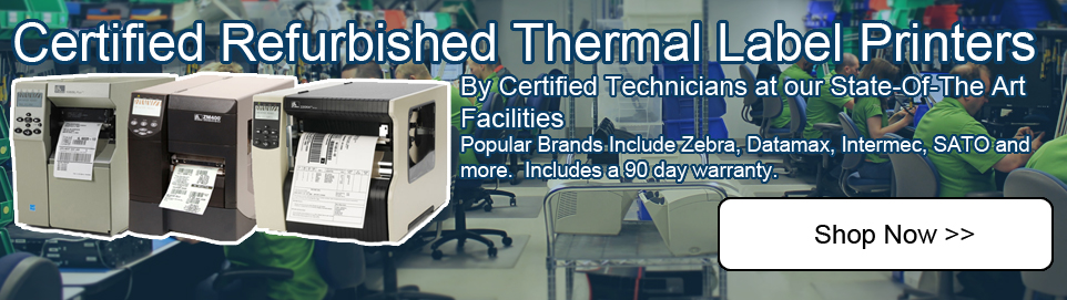 thermal label printers refurbished