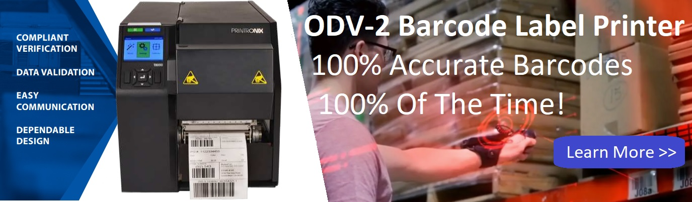 printronix odv-2d barcode label printer